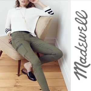 {MADEWELL} Skinny Ankle Zip Cargo Pants Army Green